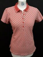 Lands End Polo Shirt - Size 8 - Pink & White - Pique Cotton
