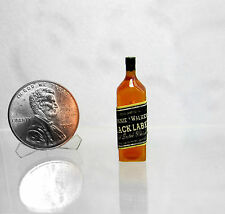 Dollhouse Miniature Bottle of J. W. BLACK LABEL Whiskey