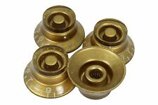 Gold Bell Hat Knobs 4pk for Epiphone and Import guitars with coarse splines