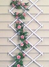 1 White Expanding Trellis Plastic Garden Trellis 150 X 40cm 1.5m New PVC