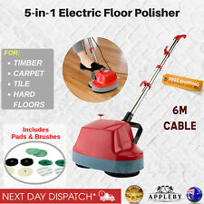 Electric Floor Polisher Scrubber Polisher Buffer Machine Timber Tile Waxer New