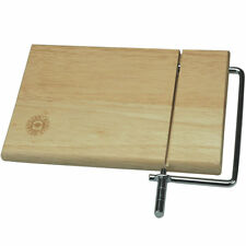 Wooden Cheese Board with Cutting Wire Knife Slicer Cutter Cutting