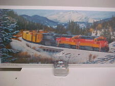 "Railroad Art, Winfield,SP,""SP and Mt. Shasta "",12/24"",Signed(7337)"