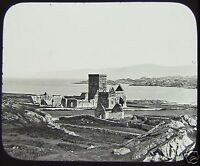 GWW Glass Magic Lantern Slide IONA CATHEDRAL C1890 SCOTLAND . PHOTO