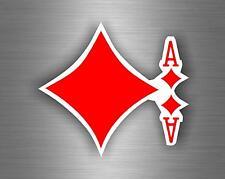 Autocollant sticker voiture jeton poker table casino jeux as de carreau carte A