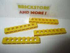 Lego - 4x Technic Brick brique 1x8 8x1 trou holes 3702 Yellow/Jaune/Gelb