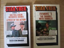 two star trek books the trouble with tribbles and a p[iece of the action.