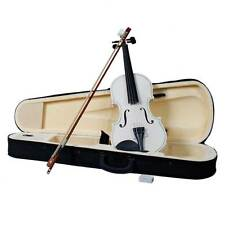 Brand New 4/4 Full Size Acoustic Violin Fiddle White Color with Case Bow Rosin