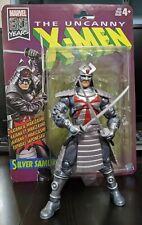 "Marvel Legends 6"" scale figure Silver Samurai Retro opened complete excellent"