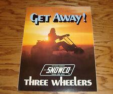Original 1973 Snowco Three Wheelers Sales Brochure 73 Nomad Super Scat