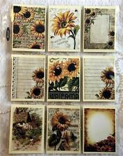 Sunflowers~Vintage~Pocket Pen Pal Letter Kit /w Protector~#13~judysjemscr afts