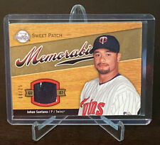 2007 Sweet Spot Sweet Patch Johan Santana Swatch Jersey Relic Insert SP /25 SWSA