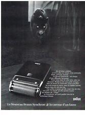 PUBLICITE  1972   BRAUN    SYNCHRON   le nouveau rasoir