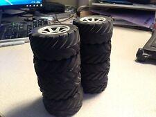 8 Used Pro-Pulse / Megatech Truck Tires RC18T RC18B2 HPI Mini Recon
