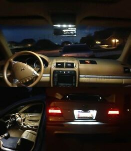 12X White LED Lights Interior Package Kit FOR BMW 1 Series E82 Coupe 2008+