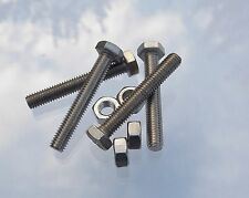 Greenhouse Parts Spares M6 x 40mm Steel Bolts & Nuts pack 4