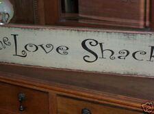 THE LOVE SHACK  wood sign primitive