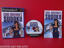 CAROL VORDERMAN'S SUDOKU - JEU PLAYSTATION 2 - PS2