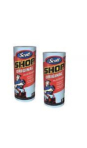 2 Rolls Scott Shop Original 110 Towels Heavy Duty Multi-Prupose Cleaning Cloths