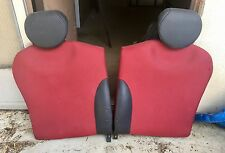 2005-2008 Mini Cooper OEM Rear Seats Red and Black Leather