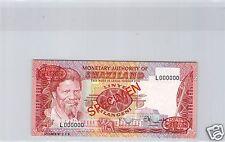 SWAZILAND SPECIMEN 1 LILANGENI ND (1974) PICK 1 S RARE !!!!