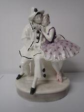 Riesige Figurengruppe von Goldscheider Pierrot + Pierrette signiert