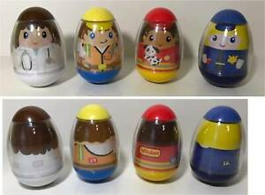 Vintage lot of 4 LARGE HASBRO WEEBLE WOBBLES 3 inch size 15 16 18 19 VG cond