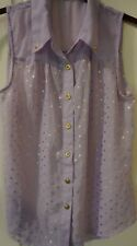 NWOT Pearl lilac sleeveless top size S