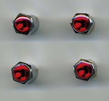 ThunderCats 4 Chrome Plated Brass Tire Valve Caps Car & Bike ThunderCats