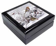 More details for snow mouse and robin print keepsake/jewellery box christmas gift, amo-5jb