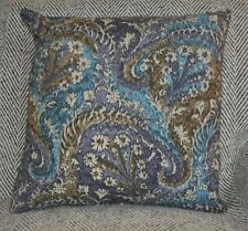 NEW 16inch reversible sipped cotton cushion Liberty 'Marand' blue, mauve, cream