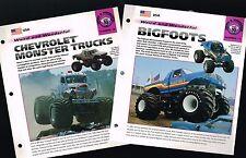 MONSTER TRUCK Brochure's + BONUS: Bigfoot, Hulkster, Fastrax, Beast, TOWASAURUS