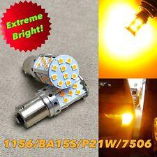 Rear Turn Signal 1156 BA15S 7506 3497 12821 P21W SMD JP SMD LED Bulb Amber W1 E