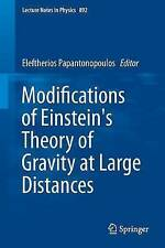 Modifications of Einstein's Theory of Gravity at Large Distances (Lecture Notes