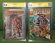 StarSlayer #1 & 2 CGC SS 9.6 1st Rocketeer 1st Starslayer Signed by Mike Grell