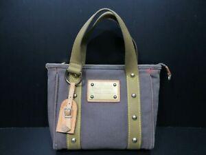 Authentic LOUIS VUITTON Antigua Cabas PM M40089 Tote Bag Canvas Khaki 87160