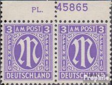Twee zones (Allied Cast) 1 met Nummerplaat postfris 1945 aan-Post