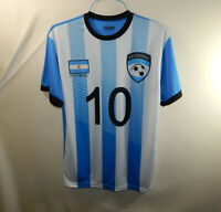 Lionel Messi Argentina National Team Football Soccer Futbol Jersey Size LARGE L