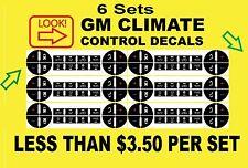 6-Sets 2007-2010 GMC Yukon SLT AC Climate Control Button Decals Repair
