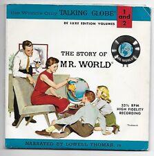 "1962 7"" 33 Rpm Record ~ Replogle's Talking Globe, The Story Of Mr. World"