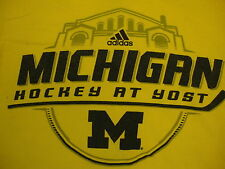NCAA Michigan Wolverines College University Fan Hockey Team Adidas T Shirt S