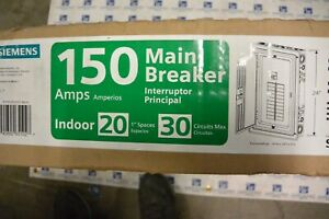 NEW Siemens 1 Phase 150 amp Main Breaker Load Center S2030B1150 120/240v