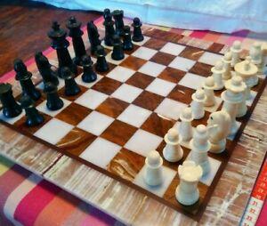 Magnifique Jeux d'échecs ancien. Complet.