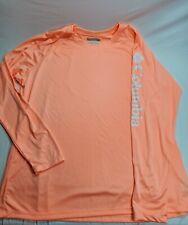 """Columbia Pfg Peach/White """"Terminal Tackle"""" Omni-Shade / Wick T-Shirt Men's 2Xl"""