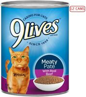 9Lives Wet Cats Food Pack Of 12 Cans For Kittens And Adult Maintenance Real Beef