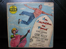 "Rare! 45RPM ""An American In Paris"" Gene Kelly MGM X93 George Gershwin Music"