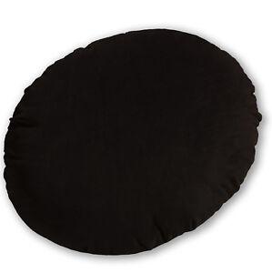 Mf36n Coco Brown Plain Microfiber Velvet Round Shape Cushion Cover Custom Size