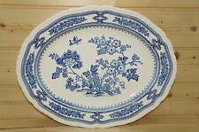 "Mason's Manchu Blue Medium Oval Serving Platter, 13 3/8"" x 10 5/8"""