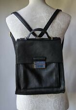 Marks & Spencer Collection Black Backpack Faux Leather Push Lock