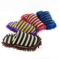 New Floor Cleaning Slippers Detachable Striped Wipe Mop Duster Tool Remove Shoes